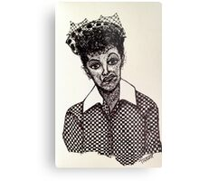 Lucy Lucille Ball Vintage Look Scribble Art Metal Print