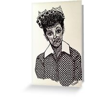 Lucy Lucille Ball Vintage Look Scribble Art Greeting Card