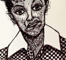 Lucy Lucille Ball Vintage Look Scribble Art Sticker