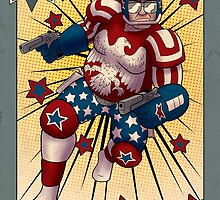Super American Patriot Man Trading card by Wolffdj