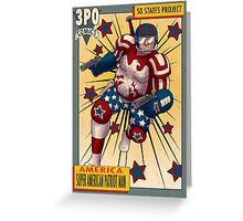 Super American Patriot Man Trading card Greeting Card