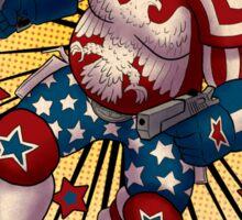 Super American Patriot Man Trading card Sticker