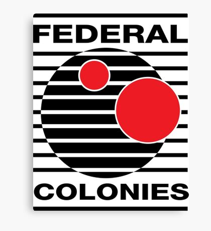 Federal Colonies T shirt Canvas Print