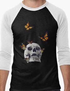 Skull with Monarch Butterflies T-Shirt