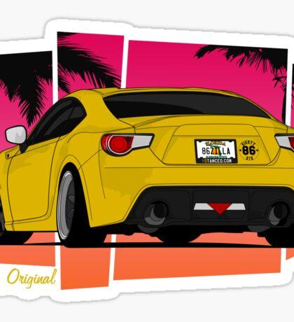 86ZILLA - Yellow - Sticker Sticker