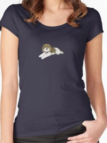 """Wonder Dog """"Blossom"""" Women's Fitted Scoop T-Shirt"""