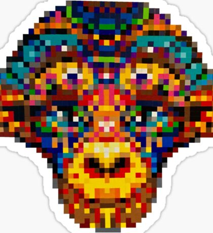 Pixel Primate Sticker