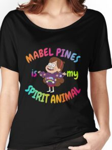 Mabel Pines is my Spirit Animal Multicolor Women's Relaxed Fit T-Shirt