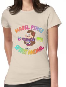 Mabel Pines is my Spirit Animal Multicolor Womens Fitted T-Shirt