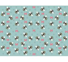 Bees & Bows Photographic Print