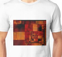 City Abstract - Fire Red Unisex T-Shirt