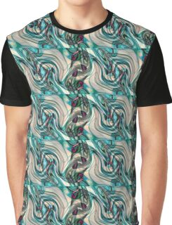 Aqua Round Graphic T-Shirt