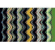 Zig Zag Friction  Photographic Print