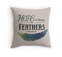 The Thing with Feathers Throw Pillow