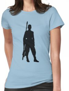Rey - Standing Silhouette  Womens Fitted T-Shirt