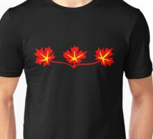 Red Maple Leaves Canadian Standard Symbol Unisex T-Shirt