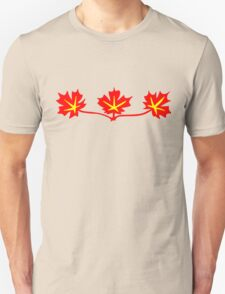 Red Maple Leaves Canadian Standard Symbol T-Shirt