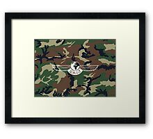 UNIT LOGO - CAMO Framed Print