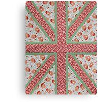 British Kitsch Flag Canvas Print