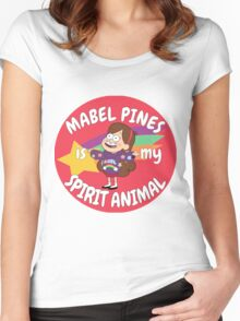 Mabel Pines is my Spirit Animal  Women's Fitted Scoop T-Shirt