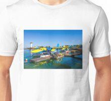 Hydroplane standing at Male airport, Maldives Unisex T-Shirt
