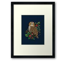 Holly Owl Framed Print