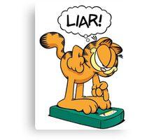 Garf Liar! Canvas Print