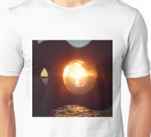 Lake Erie Sunset Through Beach Brick Unisex T-Shirt