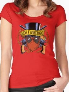 Guns n Chimichangas Women's Fitted Scoop T-Shirt