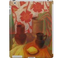 Still life with ceramic pots and an apple-quince iPad Case/Skin
