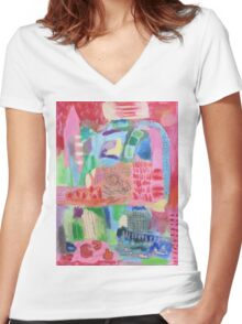 all roads lead back to you Women's Fitted V-Neck T-Shirt
