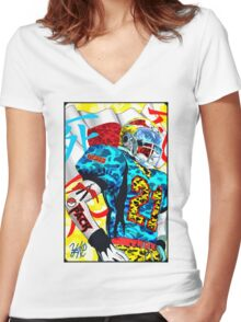 YUNG FOOTBALL Women's Fitted V-Neck T-Shirt