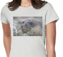 Angel Eyes  ~  Female Southern Elephant Seal Womens Fitted T-Shirt