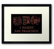 I Haight San Francisco Orange Framed Print