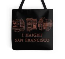 I Haight San Francisco Orange Tote Bag