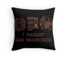 I Haight San Francisco Orange Throw Pillow