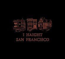 I Haight San Francisco Orange by Robin McGill