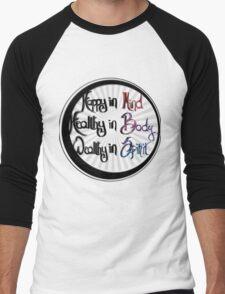 Mind Body Spirit Men's Baseball ¾ T-Shirt