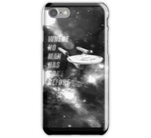 where no man has gone before iPhone Case/Skin