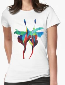 Loving Cranes Womens Fitted T-Shirt