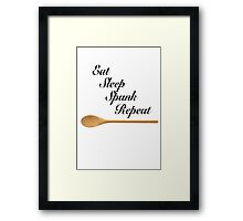 Fun Spoon - funny quote love retro kinky humor erotic art sexy t-shirt awesome Framed Print