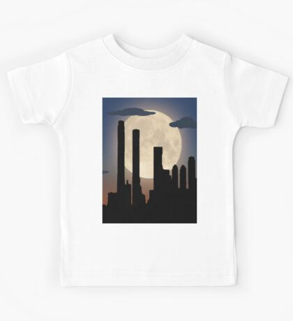 City Skyline - Night TIme Kids Tee