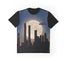 City Skyline - Night TIme Graphic T-Shirt