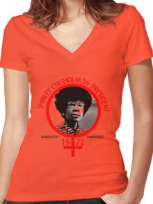 Shirley Chisholm For President Women's Fitted V-Neck T-Shirt