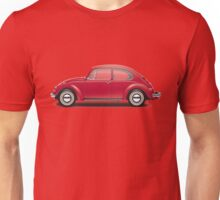 1970 Volkswagen Beetle - Royal Red Unisex T-Shirt