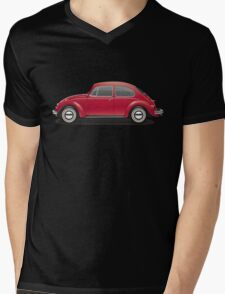 1970 Volkswagen Beetle - Royal Red Mens V-Neck T-Shirt