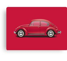1970 Volkswagen Beetle - Royal Red Canvas Print