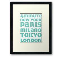 4Minute Crazy (Blue Ver) Framed Print