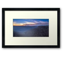 Frost on Fire Framed Print