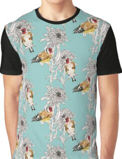 Goldfinches & Asters Graphic T-Shirt